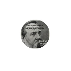 Nature versus Humanity: Engels Mini Button