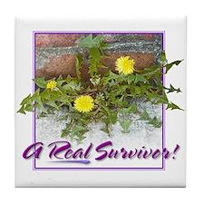"""Real Survivor"" Tile Coaster"