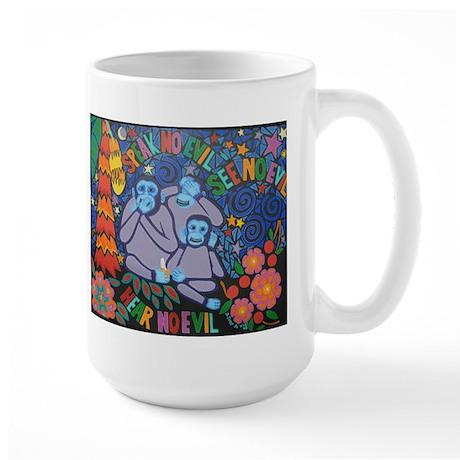 No Evil Large Mug