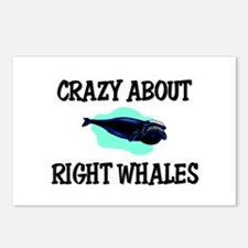 Crazy About Right Whales Postcards (Package of 8)