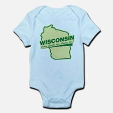 wisconsin - smell our dairy air Infant Bodysuit