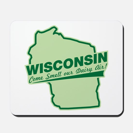 wisconsin - smell our dairy air Mousepad