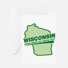 wisconsin - smell our dairy air Greeting Card