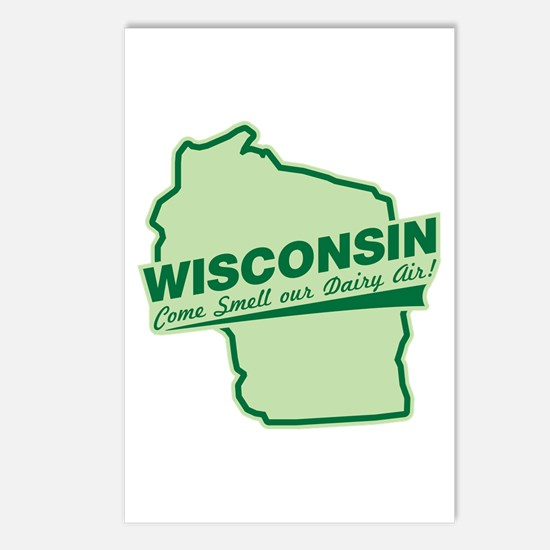 wisconsin - smell our dairy air Postcards (Package