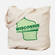 wisconsin - smell our dairy air Tote Bag