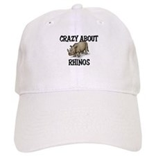 Crazy About Rhinos Baseball Cap
