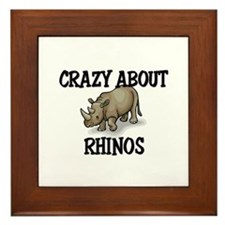 Crazy About Rhinos Framed Tile