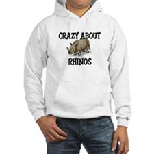 Crazy About Rhinos Hoodie