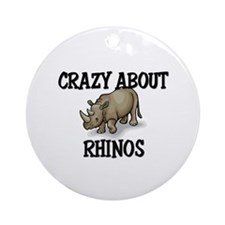 Crazy About Rhinos Ornament (Round)