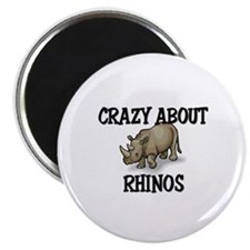 Crazy About Rhinos Magnet