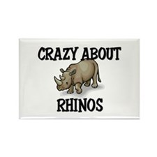 Crazy About Rhinos Rectangle Magnet