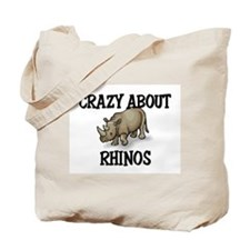Crazy About Rhinos Tote Bag