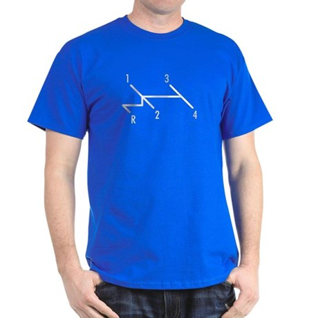 shift pattern Black T-Shirt