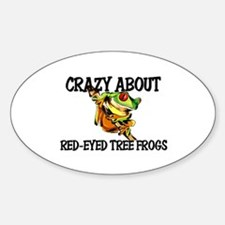 Crazy About Red-Eyed Tree Frogs Oval Decal