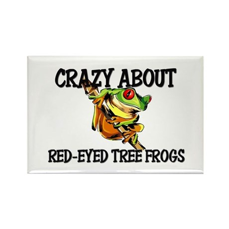 Crazy About Red-Eyed Tree Frogs Rectangle Magnet