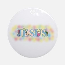 """Jesus"" with Mice Ornament (Round)"