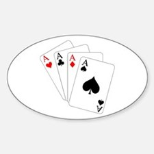 4 Aces! Oval Decal