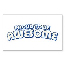 Proud to be Awesome Rectangle Decal