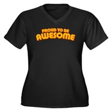 Proud to be Awesome Women's Plus Size V-Neck Dark
