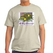 """Real Survivor"":Ash Grey T-Shirt"