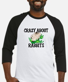 Crazy About Rabbits Baseball Jersey