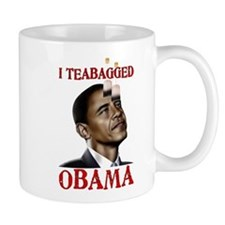 I Teabagged Obama Small Mug
