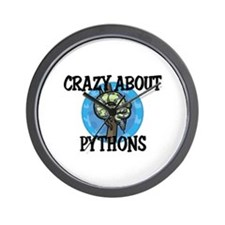 Crazy About Pythons Wall Clock