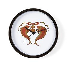 Funny Fish logo Wall Clock