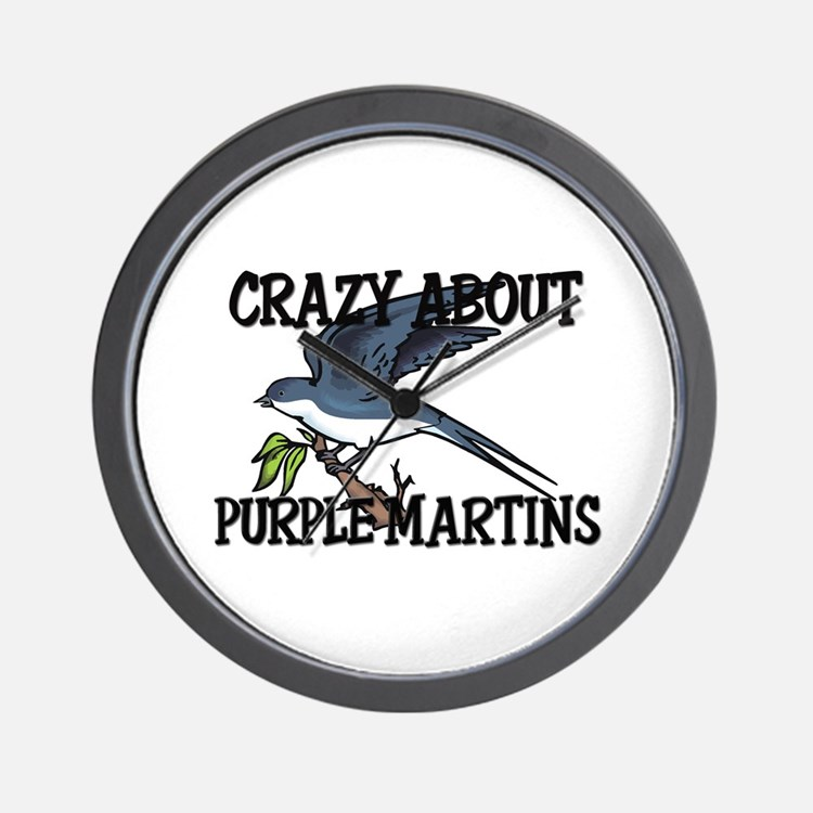 Crazy About Purple Martins Wall Clock
