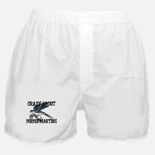Crazy About Purple Martins Boxer Shorts