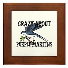 Crazy About Purple Martins Framed Tile