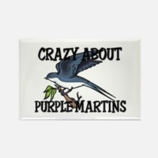 Crazy About Purple Martins Rectangle Magnet