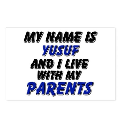 my name is yusuf and I live with my parents Postca