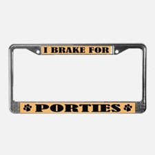 I Brake For Porties License Plate Frame