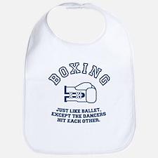 boxing vintage funny tshirt Bib