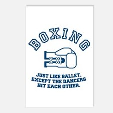 boxing vintage funny tshirt Postcards (Package of