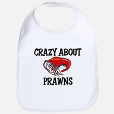 Crazy About Prawns Bib