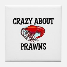 Crazy About Prawns Tile Coaster