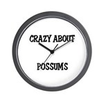 Crazy About Possums Wall Clock