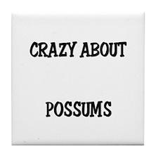 Crazy About Possums Tile Coaster