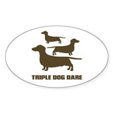 triple dog dare christmas story Oval Decal