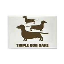 triple dog dare christmas story Rectangle Magnet