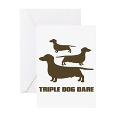 triple dog dare christmas story Greeting Card