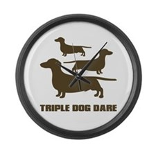 triple dog dare christmas story Large Wall Clock