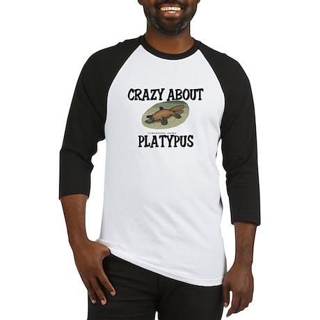 Crazy About Platypus Baseball Jersey