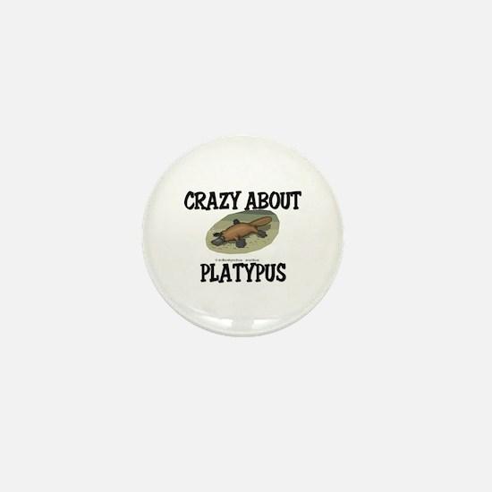 Crazy About Platypus Mini Button
