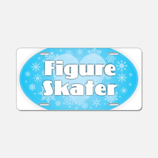 Figure Skater - Snowflakes Aluminum License Plate