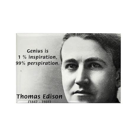 Thomas Edison: Genius Rectangle Magnet