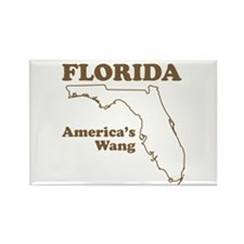 florida americas wang funny state Rectangle Magnet