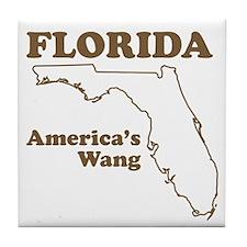 florida americas wang funny state Tile Coaster